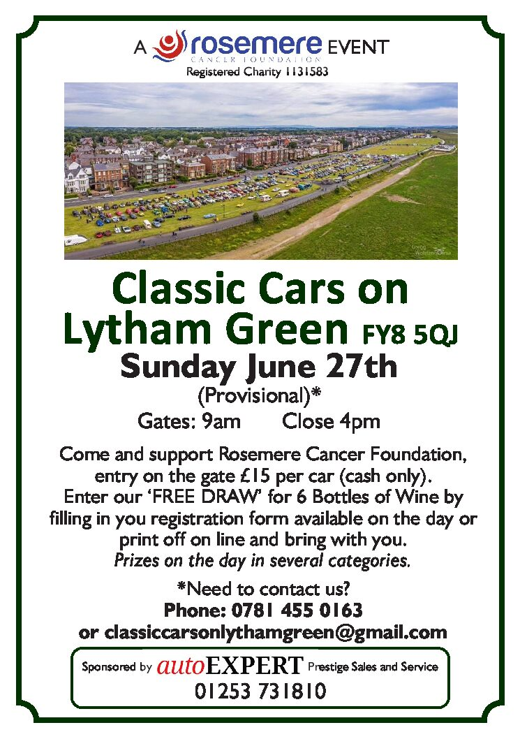 Classic Cars on Lytham Green – Sunday 27th June